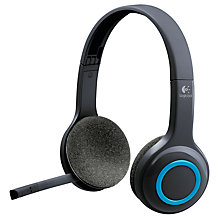 Buy Logitech H600 Fold-and-Go Wireless Headset, Black Online at johnlewis.com