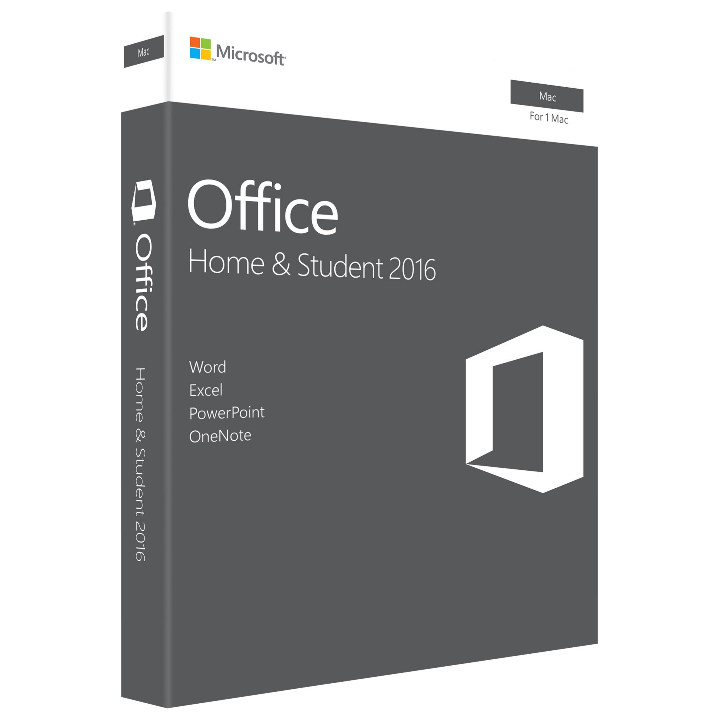 Microsoft Microsoft Office Home and Student 2016, 1 Mac, One-Off Payment