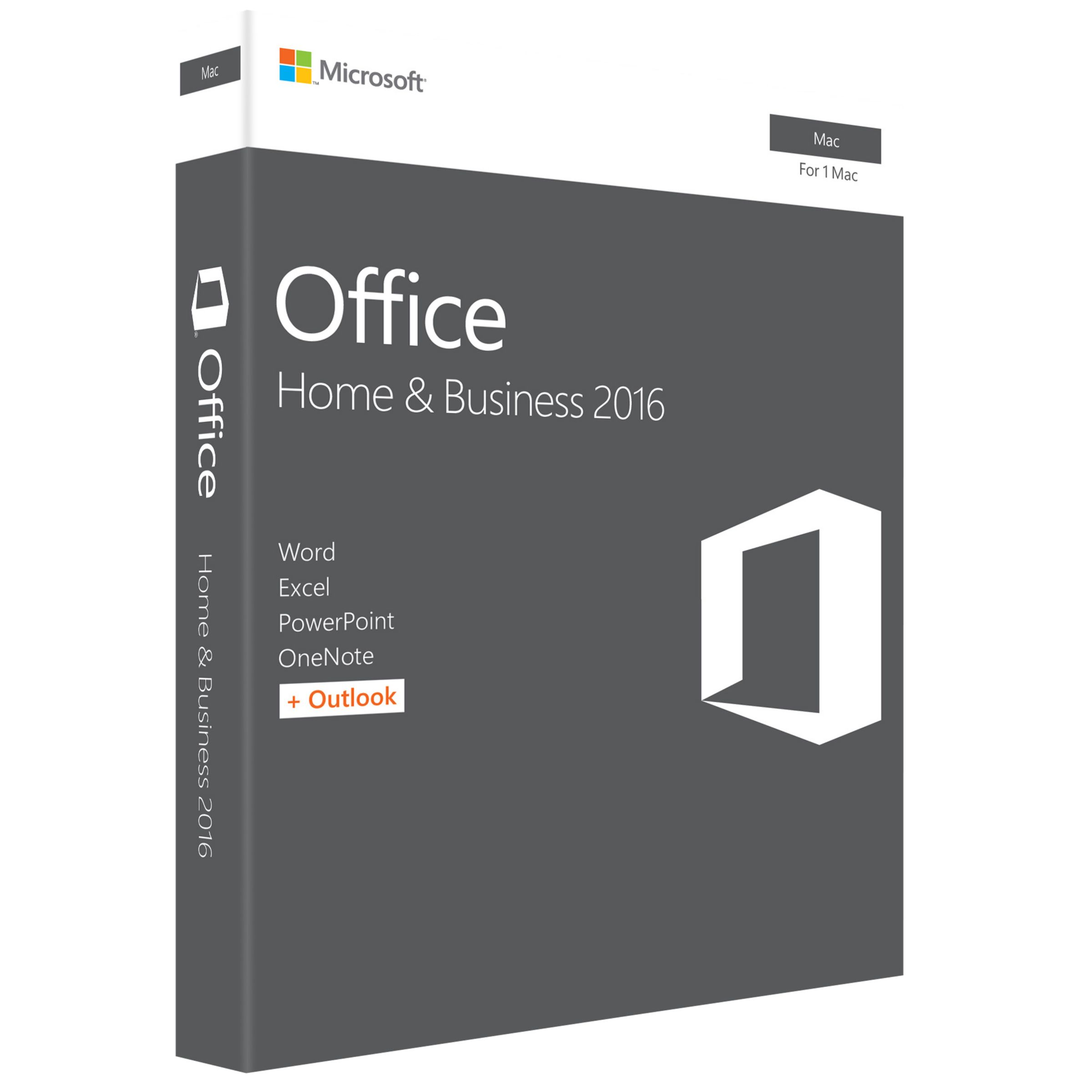 Microsoft Microsoft Office Home and Business 2016, 1 Mac, One-Off Payment