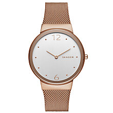 Buy Skagen Women's Freja Mesh Bracelet Strap Watch Online at johnlewis.com