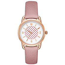 Buy kate spade new york KSW1164 Women's Boat House Leather Strap Watch, Pink/White Online at johnlewis.com