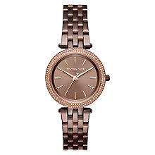 Buy Michael Kors MK5353 Mini Darci Crystal Bracelet Strap Watch, Sable Online at johnlewis.com