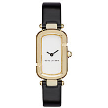 Buy Marc Jacobs Women's Jacobs Rectangular Leather Strap Watch Online at johnlewis.com