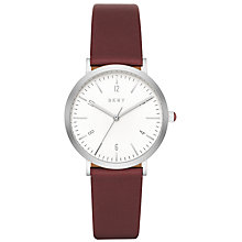 Buy DKNY Women's Minetta Leather Strap Watch Online at johnlewis.com