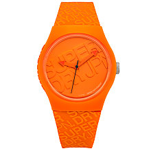 Buy Superdry SYG169O Unisex Urban Silicone Strap Watch, Orange Online at johnlewis.com