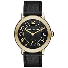 Buy Marc Jacobs MJ1471 Women's Riley Leather Strap Watch, Black Online at johnlewis.com