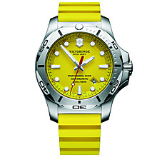 Buy Victorinox 241735 Men's I.N.O.X Diver Rubber Strap Watch, Yellow Online at johnlewis.com