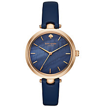 Buy kate spade new york KSW1157 Women's Holland Leather Strap Watch, Navy Online at johnlewis.com