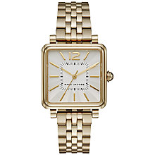 Buy Marc Jacobs MJ3462 Women's Vic Square Bracelet Strap Watch, Gold/Silver Online at johnlewis.com