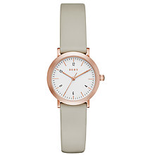 Buy DKNY NY2514 Women's Minetta Leather Strap Watch, Grey/White Online at johnlewis.com