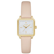Buy kate spade new york KSW1113 Women's Washington Square Leather Strap Watch, Nude/White Online at johnlewis.com