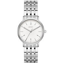 Buy DKNY NY2502 Women's Minetta Bracelet Strap Watch, Silver/White Online at johnlewis.com