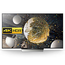 "Buy Sony Bravia 85XD8505 LED HDR 4K Ultra HD Android TV, 85"" With Youview/Freeview HD, Playstation Now & Silver Slate Design Online at johnlewis.com"