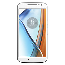 "Buy Moto G4 Smartphone, Android, 5.5"", 4G LTE, SIM Free, 16GB, White Online at johnlewis.com"