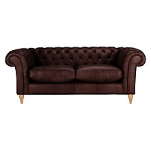 Buy John Lewis Cromwell Chesterfield Leather 3 Seater Sofa, Light Leg Online at johnlewis.com