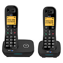 "Buy BT 1200 Digital Telephone With Nuisance Call Blocker & 1.6"" Backlit Display, Twin DECT Online at johnlewis.com"
