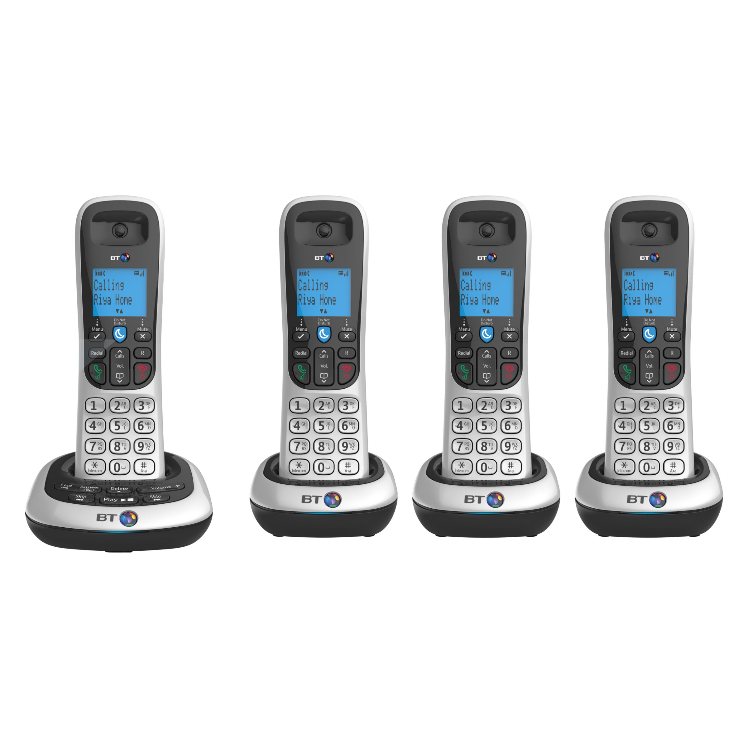 BT BT 2700 Digital Cordless Phone with Answering Machine, Quad DECT