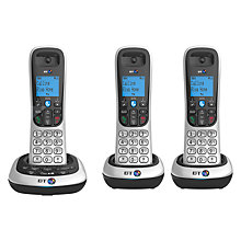 Buy BT 2700 Digital Cordless Phone with Answering Machine, Trio DECT Online at johnlewis.com
