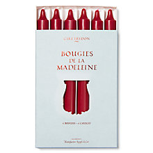 Buy Cire Trudon Madeline Dinner Candles Pack, Burgundy Online at johnlewis.com