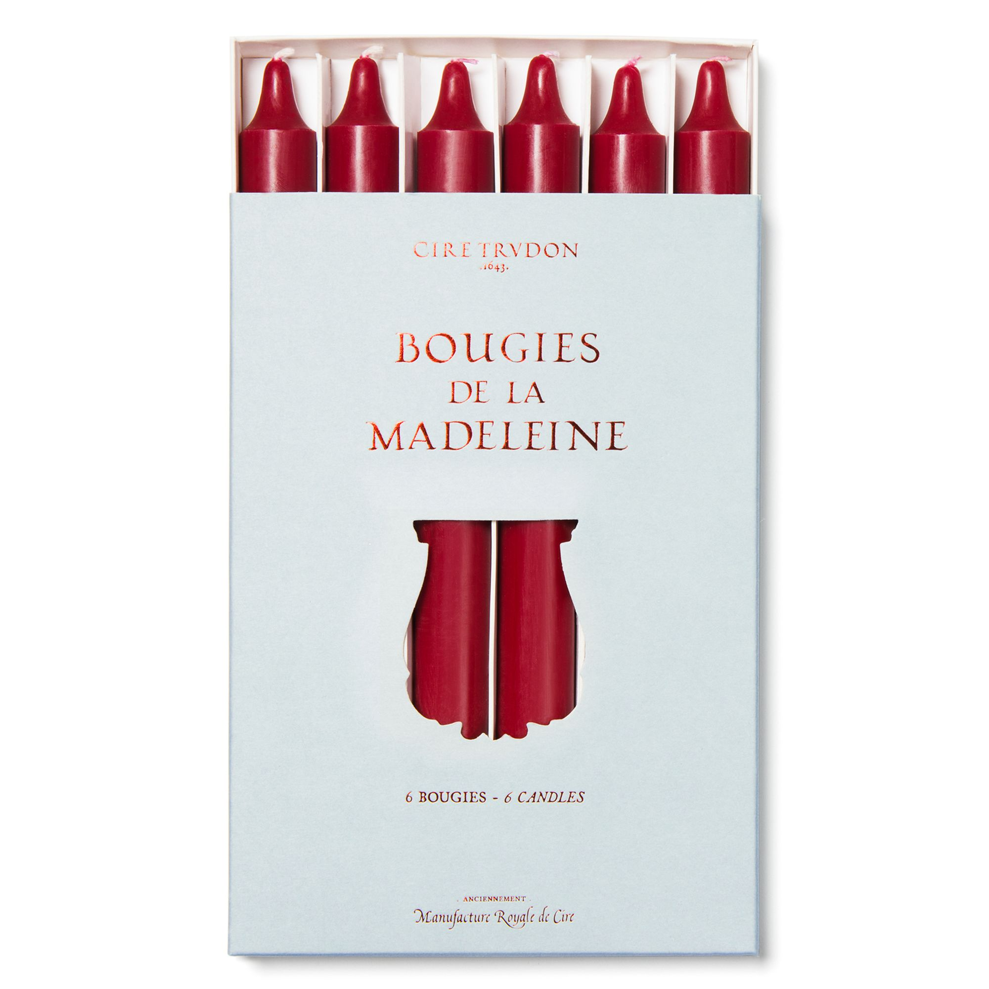 Cire Trudon Cire Trudon Madeline Dinner Candles Pack, Burgundy
