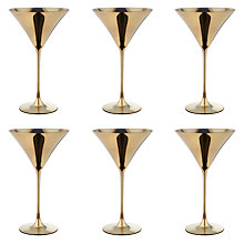 Buy John Lewis Decorated Martini Cocktail Glass, Set of 6, Gold Online at johnlewis.com