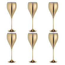 Buy John Lewis Wine Glass, Set of 6, Gold Online at johnlewis.com
