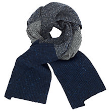Buy JOHN LEWIS & Co. Made in Italy Fisherman Rib Scarf, Navy/Grey Online at johnlewis.com