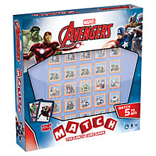 Buy Marvel Avengers Top Trumps Match The Crazy Cube Game Online at johnlewis.com