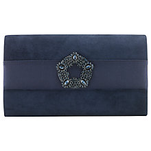 Buy Phase Eight Georgie Suede Clutch Bag, Navy Online at johnlewis.com