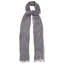 Buy Phase Eight Mira Shimmer Scarf, Pewter Online at johnlewis.com