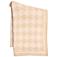 Buy Marc Cain Dogstooth Large Knitted Scarf, Camel/Pink Online at johnlewis.com
