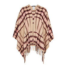 Buy Marc Cain Check Wool Cape, Sahara Online at johnlewis.com