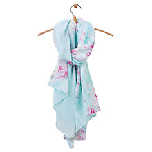 Buy Joules Wensley Floral Blossom Scarf, Sky Blue/Pink Online at johnlewis.com