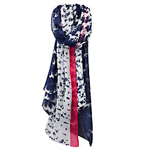 Buy Joules Wensley Galloping Horse Print Scarf, Navy/White Online at johnlewis.com