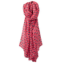 Buy Joules Wensley Oyster Catcher Print Scarf, Coral/Multi Online at johnlewis.com