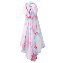 Buy Joules Harmony Watercolour Floral Scarf, Multi Online at johnlewis.com