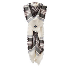 Buy Joules Heyford Check Square Scarf, Grey Mix Online at johnlewis.com