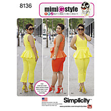 Buy Simplicity Women's Smart Casual Outfit Sewing Pattern, 8136 Online at johnlewis.com
