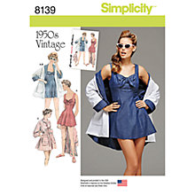 Buy Simplicity Women's Vintage Beachwear Sewing Pattern, 8139 Online at johnlewis.com