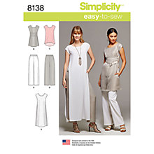 Buy Simplicity Women's Dress and Trousers Sewing Pattern, 8138 Online at johnlewis.com