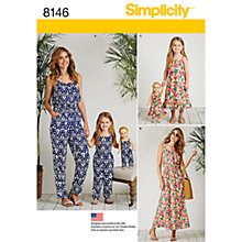 Buy Simplicity Women's and Children's Jumpsuit Sewing Pattern, 8146 Online at johnlewis.com