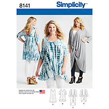 Buy Simplicity Women's Plus Size Tops Sewing Pattern, 8141 Online at johnlewis.com