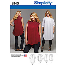 Buy Simplicity Women's Plus Size Shirts Sewing Pattern, 8140 Online at johnlewis.com
