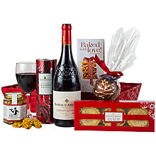 Buy John Lewis 'Christmas Tray' (Red Wine) Online at johnlewis.com