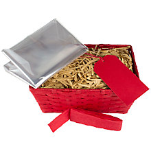 Buy John Lewis 'Build Your Own' Small Hamper, Red Online at johnlewis.com