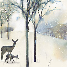 Buy UK Greetings Flittered Deer Charity Christmas Cards, Pack of 8 Online at johnlewis.com