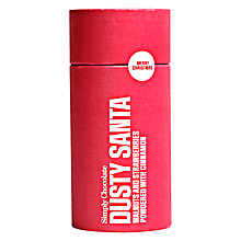 Buy Simply Chocolate 'Dusty Santa' Tube, 100g Online at johnlewis.com