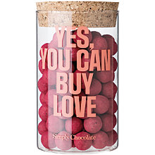 Buy Simply Chocolate 'Yes, You Can Buy Love' Jar, 280g Online at johnlewis.com