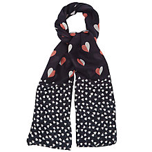 Buy Oasis Honoloulou Scarf, Navy Online at johnlewis.com