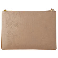Buy Whistles Rivington Matte Croc Leather Chain Clutch Bag, Grey Online at johnlewis.com
